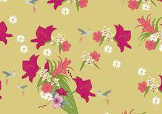 Estampa Têxtil 'Natureza' por Ana Isa Zanesco