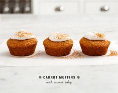carrot muffins with coconut whip   porkkanamuffinssit kookoskermalla