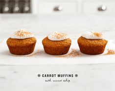 carrot muffins with coconut whip   Love and Lemons