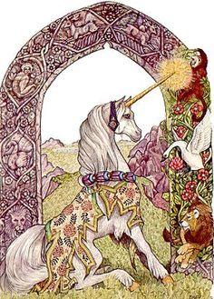 Of course I believe in unicorns, don't you? - Jan Brett artist Unicorn Fantasy, Unicorn Art, Magical Unicorn, Fantasy Art, Beautiful Unicorn, Magical Creatures, Fantasy Creatures, Pegasus, Dragons