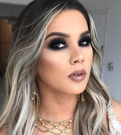 Love Makeup, Beauty Makeup, Makeup Looks, Hair Makeup, White Ombre Hair, Make Up Tricks, Stunning Eyes, Short Hairstyles For Women, Blondies