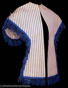 1867 striped fringed fichu