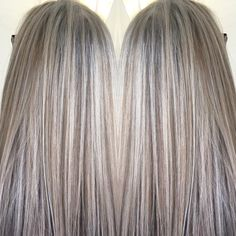 Blended blonde highlights and lowlights by April Hills