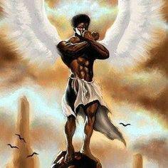 Angel of Meditation by Dion Pollard Black Love Art, Black Girl Art, Black Is Beautiful, Black Man, Male Angels, Black Angels, African American Artwork, African Art, Afro Punk