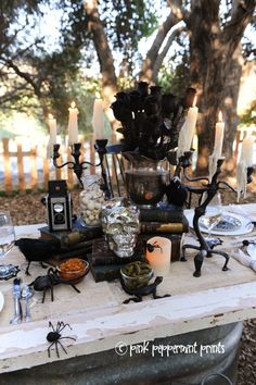 Entertaining: Pottery Barn Halloween Party: Bone Appetit Dinner Table by Pink Peppermint Design