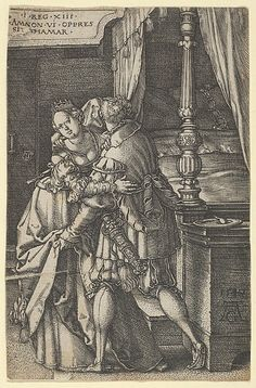 Heinrich Aldegrever | Amnon Violating Tamar, from The Story of Amnon and Tamar | The Met