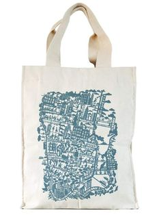 New York City Bag by Famille Summerbelle. i prefer this 'portrait' oriented shopper over the landscape London and Paris bags.