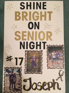 Senior Night high school football poster for boyfriend. Inspired by Pinterest ideas!