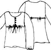 Выкройки блузок: блузка ампир с поясом и застёжкой на петли и пуговицы