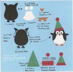 Flower Sparkle: Penguin On A Spring Christmas Card - 52 {C}CT Apr Technique Challenge