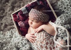Newborn Lace Headwrap Newborn Photo Prop Silver by ItsyBitsyBlooms, $14.00