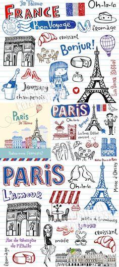 Париж в зарисовках  Paris sketch