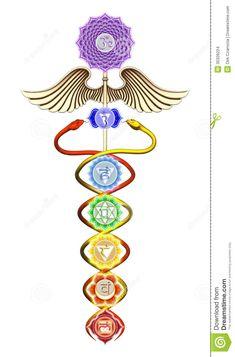 Caduceus Chakras Stock Images - Image: 35326224