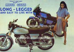 1979 MOTO GUZZI LE MANS 850 MK II SEXY GIRL A3 POSTER AD ADVERT ADVERTISEMENT