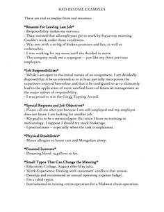 Dashing image within bad resume examples printable