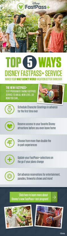 Top 5 Ways Disney FastPass+ Service makes your Walt Disney World vacation better than ever! disney world tips & tricks Disney Vacation Planning, Disney World Planning, Walt Disney World Vacations, Disney Parks, Disney Destinations, Vacation Planner, Disney Travel, Disney World Tips And Tricks, Disney Tips