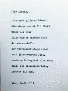 Sag mir ein Wort und ich schreib dir ein Gedicht. Wortfachgeschaeft @ Heuer am Karlsplatz. Inspirationswort: Löwengeburtstag