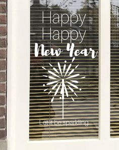 Happy new year, sparkling new year, window drawing, new year quote, window decoration Happy New Year Sparkling New Year Window Etsy Happy New Year Message, Happy New Year Wishes, New Year Pictures, Happy New Year Images, Year Quotes, Quotes About New Year, Nouvel An Citation, Wishes For Mother, New Year Gif