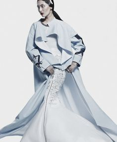 """""""Designed To Celebrate""""Bonnie Chen by Mei Yuangui for Vogue China September 2013."""