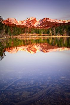 Sunrise - Sprague Lake - Rocky Mountain National Park - Colorado (by wboland) Colorado Plateau, State Of Colorado, Rocky Mountains, Sunrise Lake, Grand Lake, Mountain Photos, Rocky Mountain National Park, Beautiful Places, Beautiful Pictures