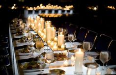 candle centerpieces for wedding - Google Search
