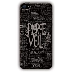 Pierce the Veil iPhone 4/4s Case ($97) ❤ liked on Polyvore featuring accessories, tech accessories, phone cases, phone, band merch and other