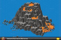 Volcano Isometric Elements by quicky on Creative Market