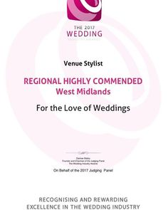 H I G H L Y | C O M M E N D E D _ Yay!! I am beyond happy to have been awarded highly commended venue stylist in the West Midlands at The Wedding Industry Awards! A huge thank you to my wonderful couples for voting for me; one of the highlights from last night aside from winning this title was getting to read some of the beautiful comments my couples had to say about working with me this year. _ It really has been the most wonderful year; I've absolutely loved every unique wedding I've…