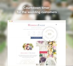 #WeddingEngine - countdown timer for the #wedding customers. Try Demo Now! http://enginethemes.com/demo/weddingengine/