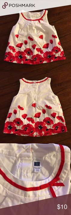 Janie and Jack Poppy Print Sleeveless Top Janie and Jack poppy print sleeveless top. 12-18 months. Brand new without tags Janie and Jack Shirts & Tops Tank Tops
