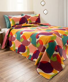 Ooo** Abstract Evelyn Embossed Quilt Set   zulily