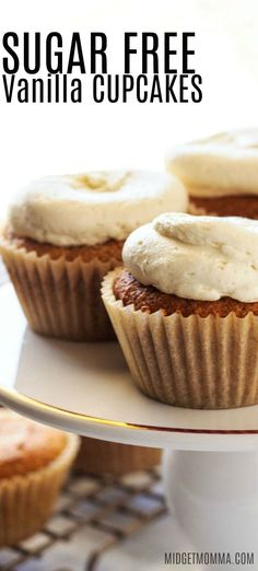 Four Kitchen Decorating Suggestions Which Can Be Cheap And Simple To Carry Out This Sugar Free Vanilla Cupcake Recipe Is The Perfect Keto And Low Carb Vanilla Cupcake, That Has The Perfect Cupcake Texture And Perfect Vanilla Flavor. Sugar Free Vanilla Cupcakes, Sugar Free Deserts, Sugar Free Recipes, Keto Friendly Desserts, Low Carb Desserts, Diabetic Desserts, Diabetic Cupcakes, Diabetic Meals, Diabetic Friendly