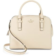 Kate Spade New York Small Kiernan Leather Satchel ($358) ❤ liked on Polyvore featuring bags, handbags, porcelin, pink purse, satchel purses, pink leather handbags, handbag satchel and leather satchel purse