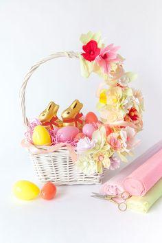 Easter Baskets 3 Ways | Oh Happy Day! #easter #diy #easterbasket