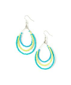 This Blue & Yellow Teardrop Earrings by Majestic is perfect! #zulilyfinds