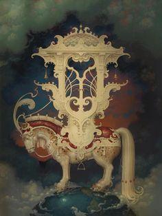 """Year of the Horse"" ~ Daniel Merriam ~ Watercolorist Extraordinaire"