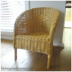 How To Paint A Wicker Chair With Chalk Wickerbasketsrectangle Painting Furniture Painted