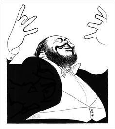 Luciano Pavarotti by Angela on Etsy