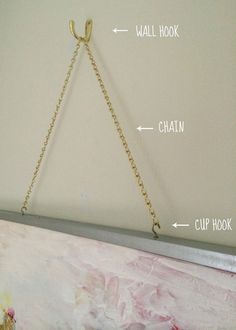 Idea for hanging art -  LiveLoveDIY: How To Make Gold Leaf Art (Round Two)!