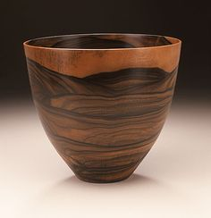 Wood Turned Bowl by Bob Stocksdale, Philippine ebony, 1986