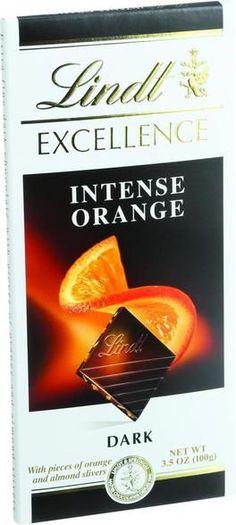 Lindt Chocolate Bar - Dark Chocolate - 47 Percent Cocoa - Intense Orange - 3.5 Oz Bars - Case Of 12