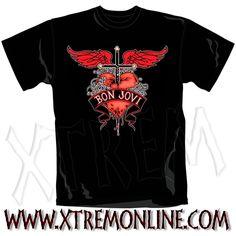 ¡Echa un vistazo a nuestro merchandising de Bon Jovi! Todo en Stock. Envíos inmediatos. Camisetas heavy metal.