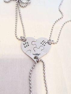 mom big sis lil sis necklace