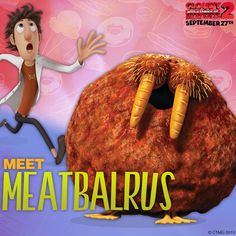 Cloudy With A Chance of Meatballs 2 Food-Animal Hybrids : Teaser Trailer