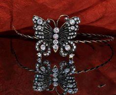 Butterfly Crown Tiara Rhinestone Bridal Crown by VirjinyaCVDesign