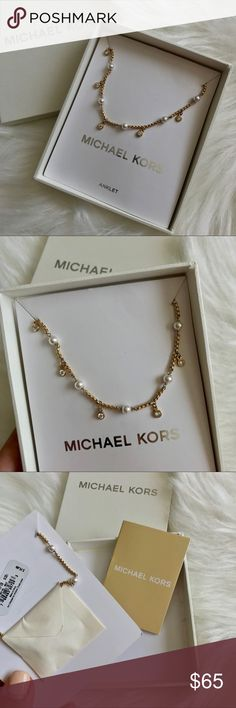 NEW ✨ Michael Kors Ankle Bracelet Gold ankle bracelet with pearls ✨ new with box 📦 Michael Kors Accessories