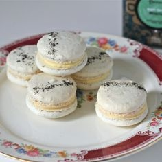 Lady Grey macarons. Earl Grey cookies with an orange-lemon curd filling. Inspired by my favorite show, Downton Abbey!