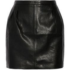 20 leather mini skirt (€225) ❤ liked on Polyvore