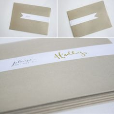 fancy invitation label from office supply label paper