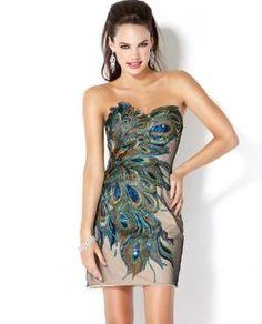 Embellished Peacock Dress, Style 4692